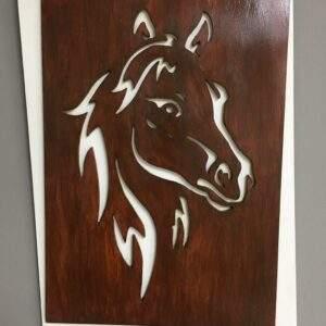 cuadro perfilado caballo