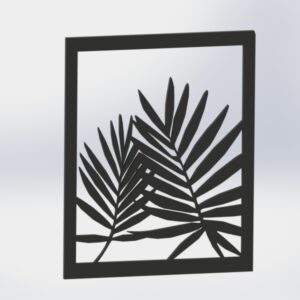 cuadros decorativos hojas en madera