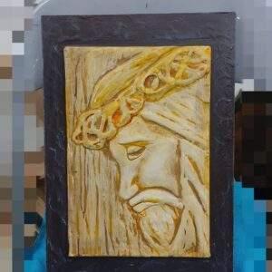 cuadro Jesús artesanal