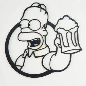 Homer simpson en madera MDF geométrico