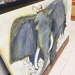 Elefante artesanal cuadro personalizado