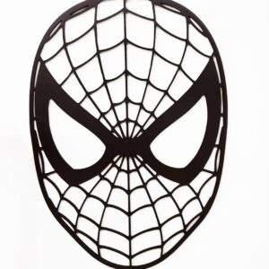 spiderman geométrico en madera MDF