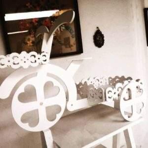 triciclo decorativo en madera MDF