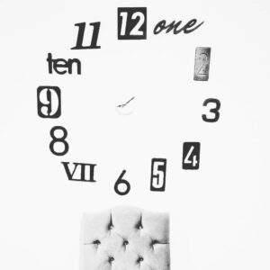 reloj de pared en madera MDF