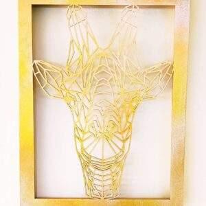 cuadro jirafa en madera MDF