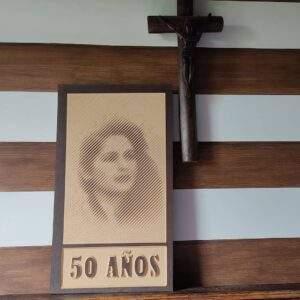 retratos en madera MDF